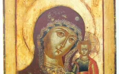 RUSSIAN ICON of KAZAN MOTHER OF GOD late 18th CENTURY