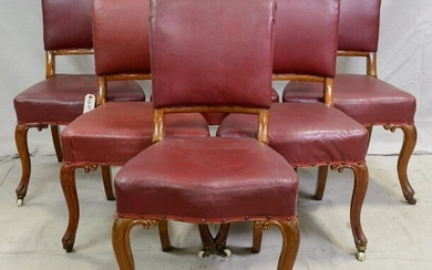 Set of 6 British Dining Chairs with Cabrio Style Legs
