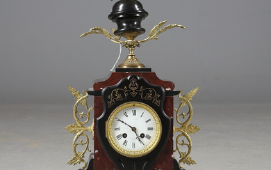 TABLE SPENDYL, brass / stone / marble, dial marked Berlin, 1900s.
