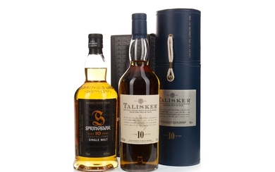 TALISKER 10 YEARS OLD AND SPRINGBANK 10