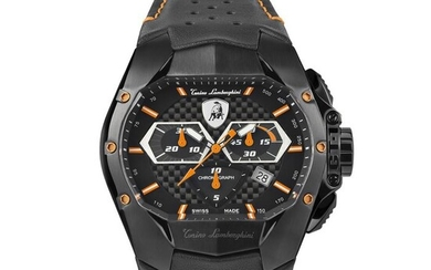 Tonino Lamborghini - GT1 Chronograph Watch Orange Carbon Swiss Made - T9GB - Men - 2011-present