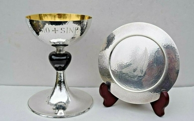 Traditional All Sterling Silver French Chalice & Paten