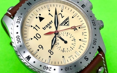 Traser - T5 Aviator Jungmeister Chronograph with Leather Strap Swiss Made - 100190 - Men - Brand New