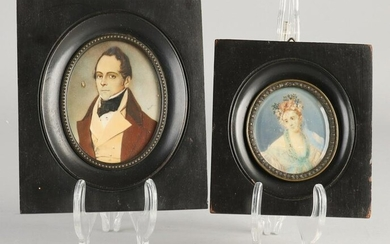 Two miniature paintings.&#160 One male portrait, signed