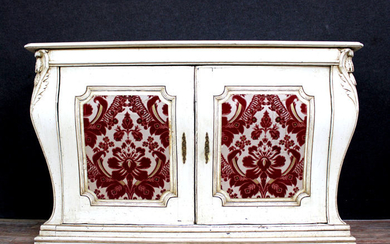 Very Amazing Convenient Tomb With Doors - Rococo Style - lacquered wood - Late 19th century