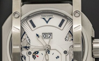 Visconti - Automatic Grand Date GMT Elegance Black LIMITED EDITION - W102-00-104-01 - Men - NEW