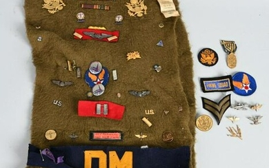 WWII US ARMY AIR FORCE INSIGNIA COLLECTION