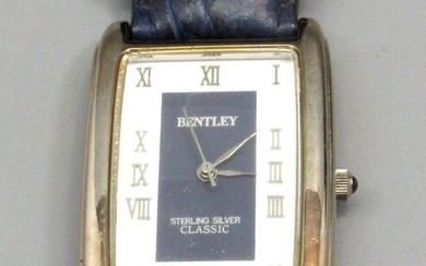 Wrist Watch Made by Bentley, Sterling Silver Classic Model