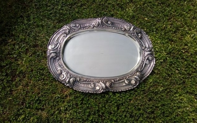 centerpieces-tray-plate. - .800 silver - Italy - Early 20th century