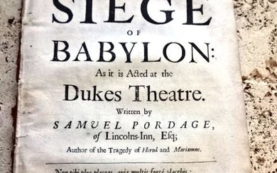 1678 [English Play] The Seige of Babylon Roger L'