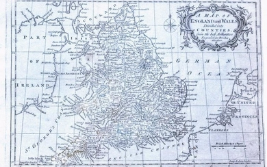 1795 Brookes Map of England and Wales -- A Map of