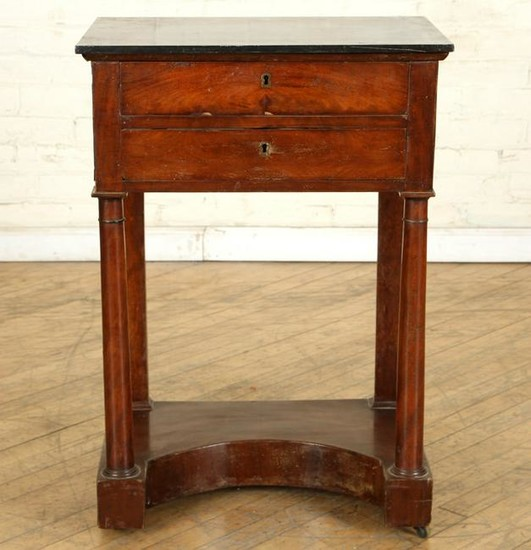 19TH C. MARBLE TOP FRENCH EMPIRE STYLE TABLE