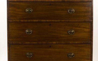 19th C. English Mahogany Chest of Drawers