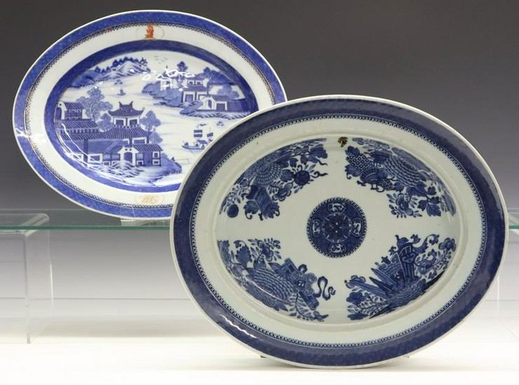 2 Chinese Export Porcelain Platters