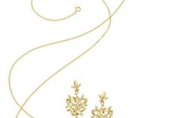 55046: Diamond, Gold Jewelry Suite, Paloma Picasso for