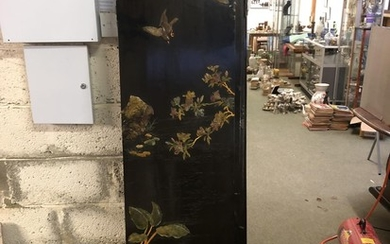 6 Panel double sided Chinese screen painted & decorated in r...