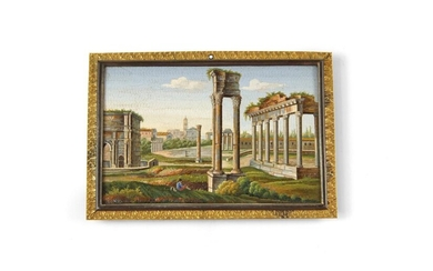 A 19th Century Micro Mosaic Plaque