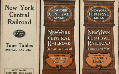 A COLLECTION OF NEW YORK CENTRAL LINES PAPER EPHEMERA