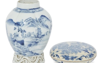 A Chinese export porcelain lobed vase and...