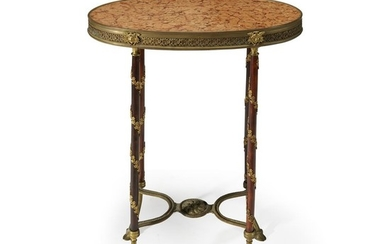 A Louis XVI style gilt-bronze mounted table late 19th...