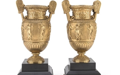 A PAIR OF VASES IN ORMOLU - EARLY 20TH CENTURY