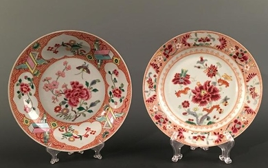 A Pair of Chinese Famille Rose 'Floral' Plate