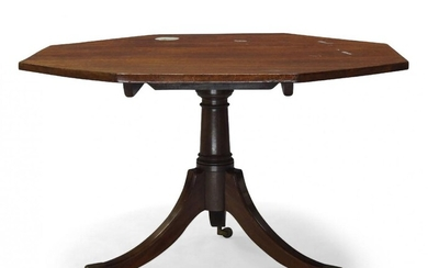 A Regency mahogany tilt top breakfast table, the octagonal top...