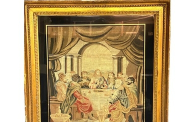 A mid 19th century Berlin wool work picture depicting The La...
