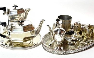 A quantity of silver and silver plate: including: a silver...