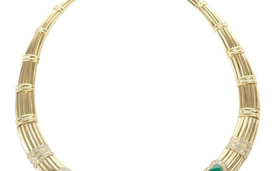 AN EMERALD, RUBY AND SAPPHIRE COLLAR BY ADLER
