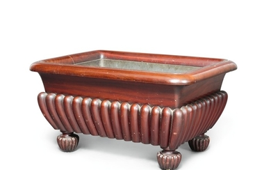 AN IRISH GEORGE IV MAHOGANY CELLARETTE, CIRCA 1825, IN THE MANNER OF GILLOWS