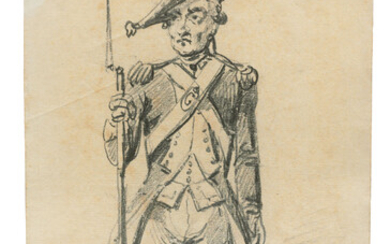 Alexander Orlowski (1777-1832), Soldier with a pegleg; Soldier with a bayonet; Elderly sailor; and Sailor