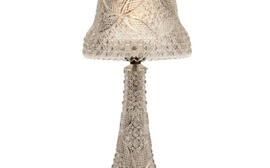 American Brilliant Period Cut Glass Mushroom Lamp