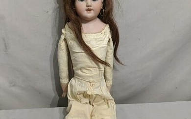 Antique Dora Petzold Germany Bisque & Leather Doll