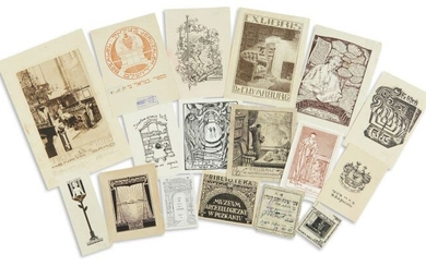 (BOOKPLATES). Notable collection of bookplates belonging to Jewish personalities...