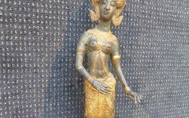 "Bronze sculpture ""Dancer"". Thai work."