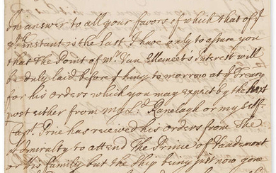 "Burning of Whitehall Palace.- Blathwayt (William) Autograph Letter signed, 1697 [1698], ""Whitehall is just now on fire by an accidt. and moste fit is like to be burnt down. We are safe towards ye Park""."