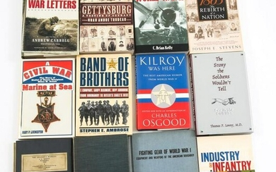 CIVIL WAR, WWI AND WWII HISTORY BOOK LOT OF 12