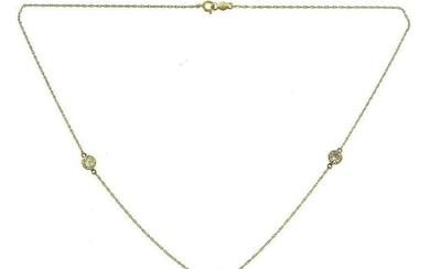 CLASSIC 14k Yellow Gold & Diamond Necklace Chain