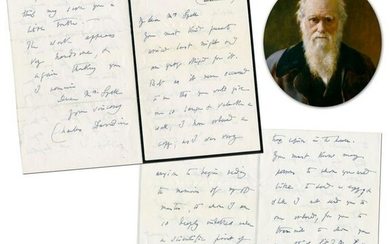 Charles Darwin ALS Referring to his Mentor, Scottish