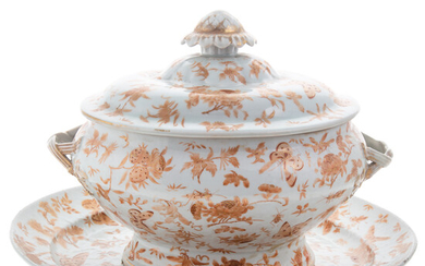 Chinese Export Soup Tureen & Oval Platter