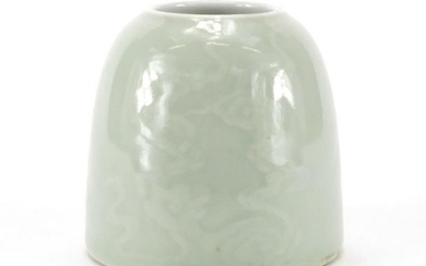 Chinese celadon glazed water pot decorated with clouds,