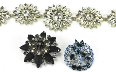 Collection of Vintage Rhinestone Jewelry Pieces
