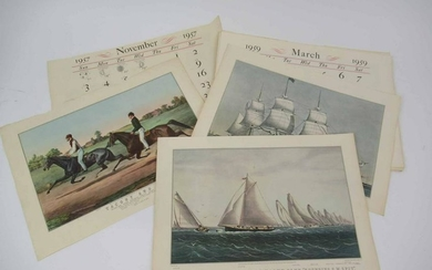 Currier and Ives Calendar Prints