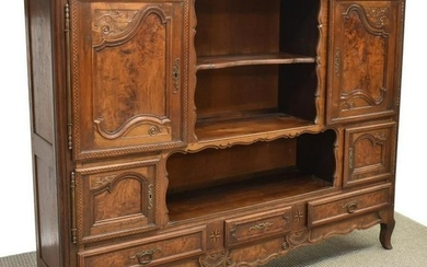 FRENCH LOUIS XV STYLE WALNUT SIDEBOARD