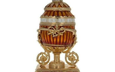 Faberge-Inspired Bouquet Of Lilies Trinket Jewel Box