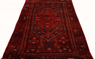 "HAND WOVEN HEREZ WOOL RUG W 49.5"" L 84"""