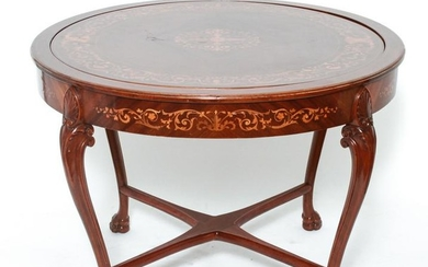Horner Attributed Marquetry Card / Game Table