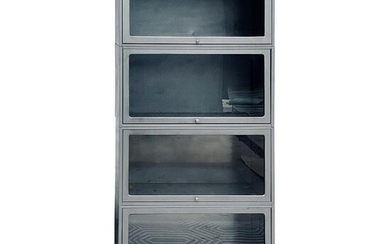 Industrial Display Bookcase Cabinet W/Glass panels