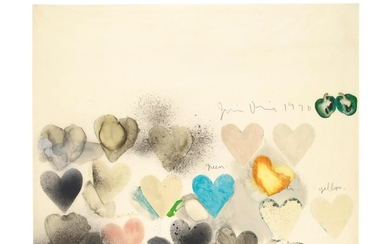 JIM DINE (B. 1935), Large Heart Drawing #14